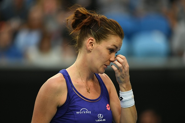 A tough day at the office for Radwanska (Photo by Saeed Khan / Getty Images)