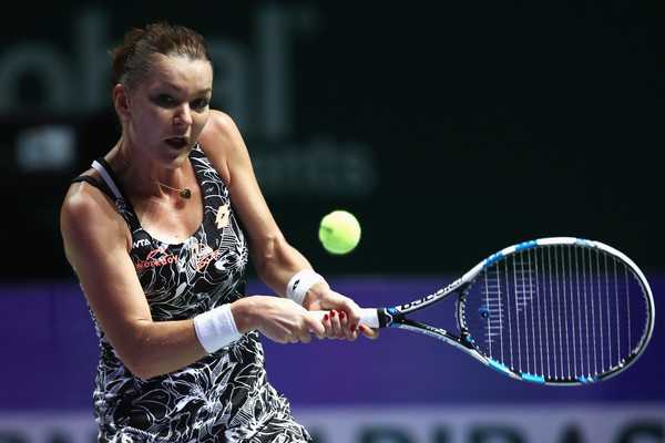 Radwanska in action against Kuznetsova at the WTA Finals (Photo by Julian Finney / Getty Images)