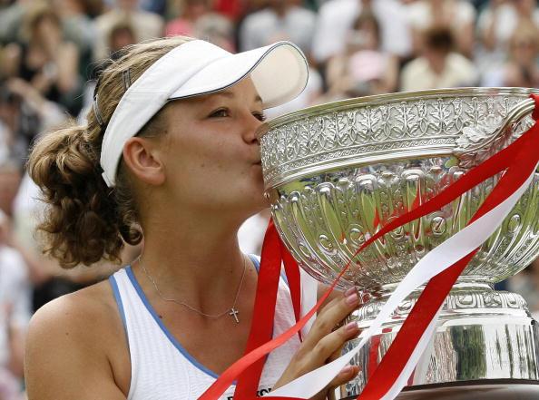 Agnieszka Radwanska With The Aegon Internation Trophy In 2008. Photo: Ian Kington/Getty Images