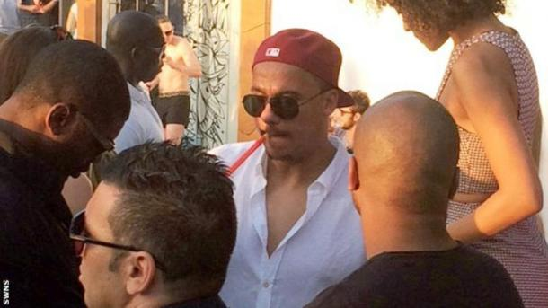 Agbonlahor pictured on holiday