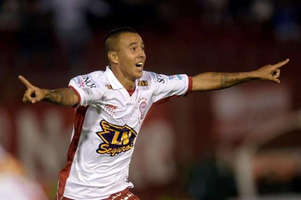 'Kaku' celebrado un gol con Huracán (es.besoccer.com)