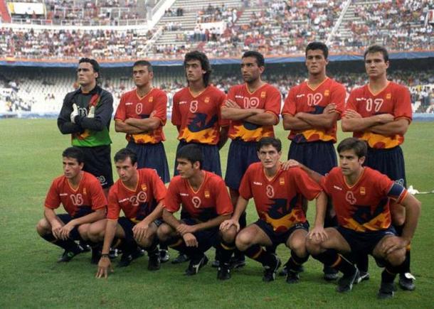 La 'Selección de Oro' en los JJOO de Barcelona 1992. Foto: EFE