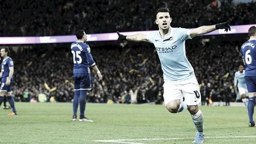 Agüero celebrando un tanto. Foto: Manchester City