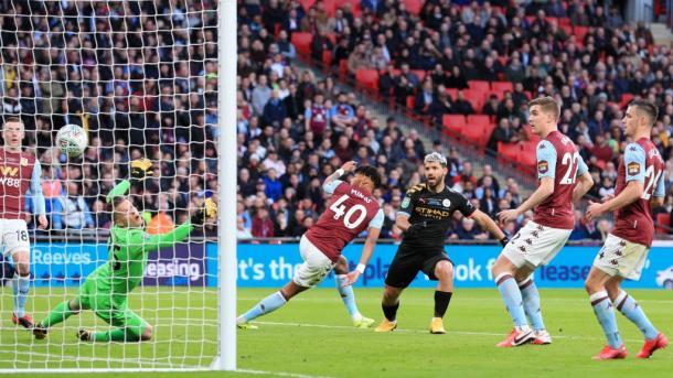 O gol que abriu o placar   Foto: Divulgação/Manchester City
