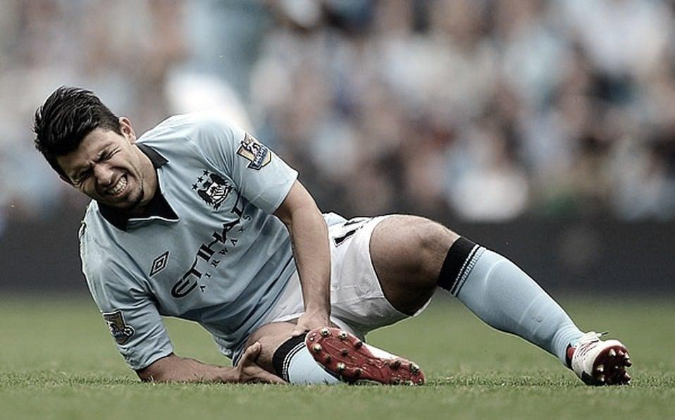 Las lesiones, un mal recurrente para el 'Kun' | Foto: Premier League