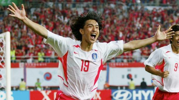 Ahn Junghwan celebra su gol frente a Italia | Imagen: FIFA