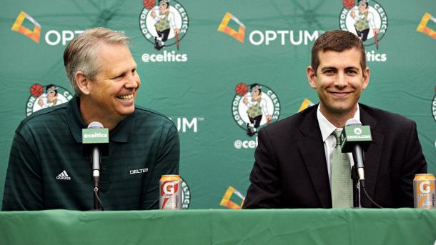 La coppia vincente. Danny Ainge e Brad Stevens - Foto ESPN