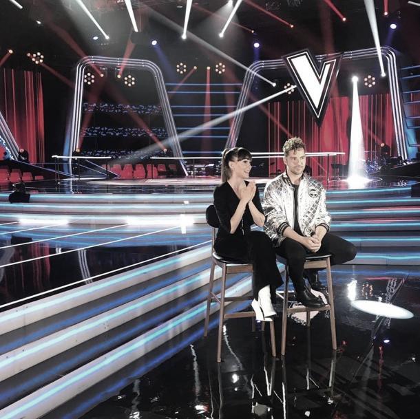 Aitana y David Bisbal en el plató de La Voz || Fuente foto: Instagram Aitana