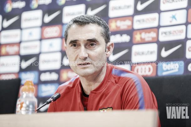 Ernesto Valverde, en rueda de prensa | Foto: Beto - VAVEL