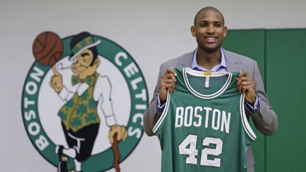Al Horford said it was difficult leaving the Atlanta Hawks but looks for a fresh start in Boston. Photo: Charles Krupa/AP