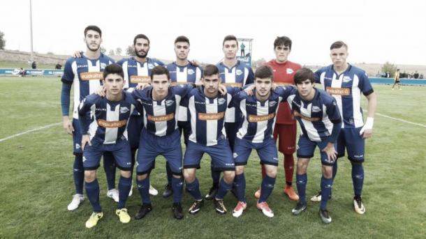 Alineación del Alavés B en un partido de esta temporada. / Foto: Deportivo Alavés