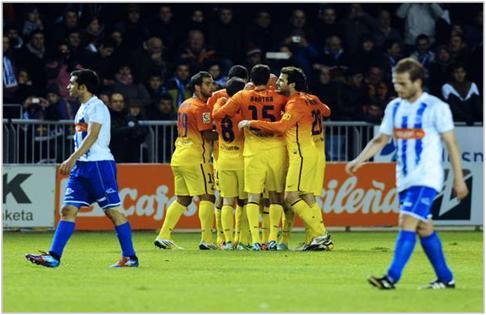 Foto de aquella eliminatoria de Copa // Foto de apurogol.net