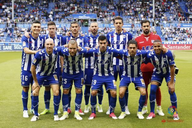Once inicial del Alavés frente al Celta. / Foto: La Liga