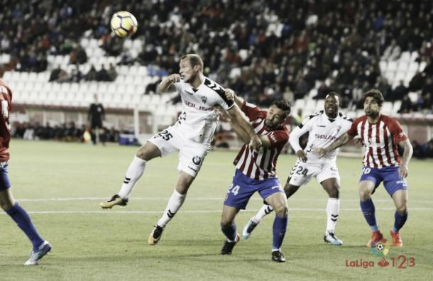 El Albacete ante el Sporting | Fuente LaLiga 123