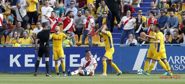 Derrota por 4 - 0 frente al Alcorcón. / Fotografía: LaLiga.
