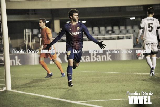 Aleñá, celebrando su gol | Noelia Déniz - VAVEL