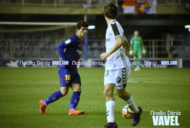 Carles Aleñá en el FC Barcelona B 0-1 Albacete / Foto: Noelia Déniz