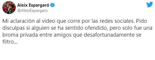 Disculpas de Aleix Espargaró. Foto: twitter.com