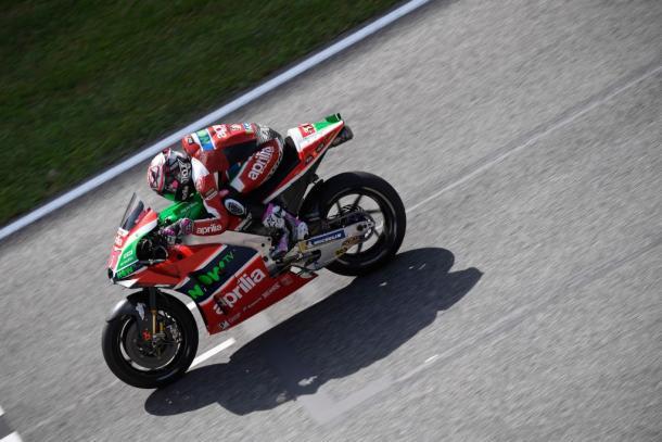Aleix Espargaró durante el pasado Gran Premio de Italia. | FOTO: Aprilia Racing Team Gresini