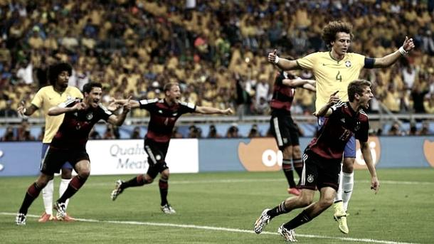 Alemania celebrando uno de los siete goles a Brasil | Foto: ABC.es