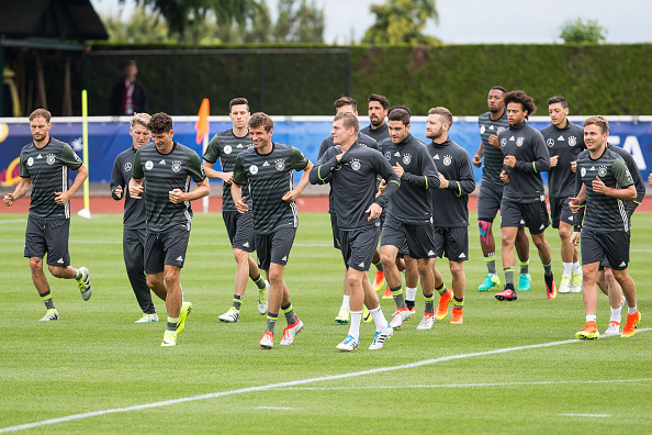 Alemania durante una sesión de entrenamiento. // Foto: Getty Images