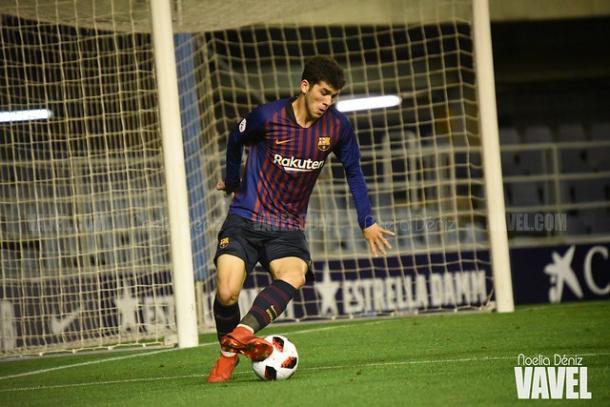 Carles Aleña contra el Espanyol B. FOTO: Noelia Déniz