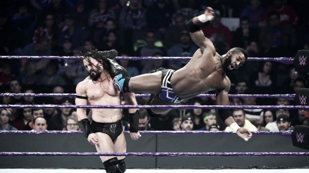 Alexander rocked Neville. Photo- WWE.com