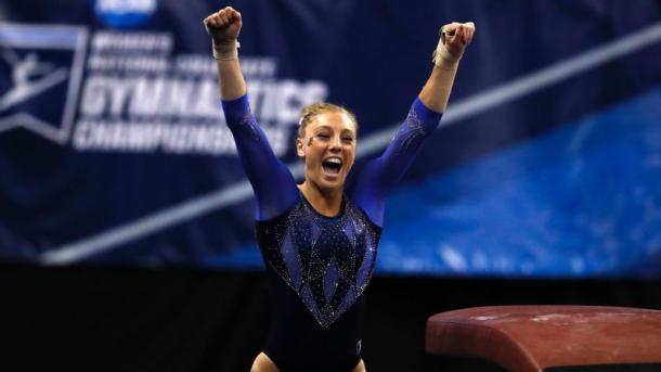 Alex McMurtry won the all-around title and is a big reason Florida is among the favorites to win the national championship/Photo: Jeff Roberson/Associated Press