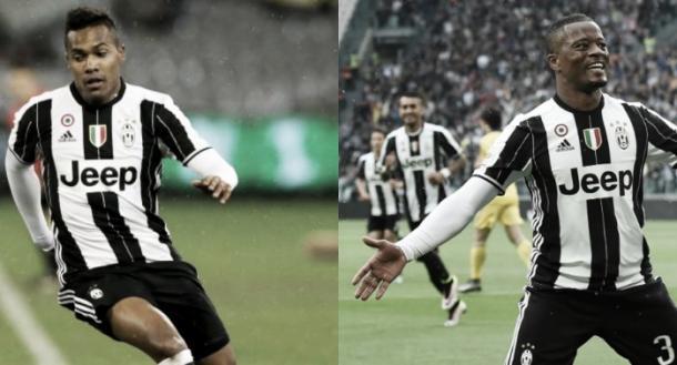 Alex Sandro e Patrice Evra.