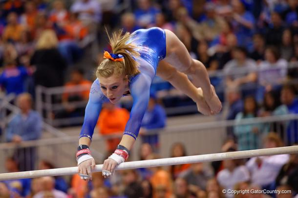 Alex McMurtry on bars pic: GatorCountry.com