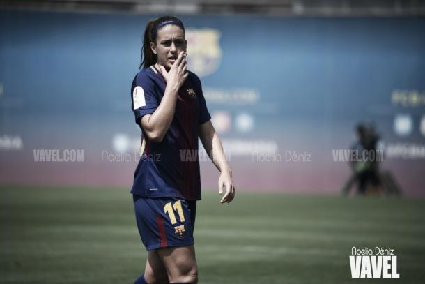 La jugadora azulgrana durante un encuentro de la temporada pasada / Fptp_ Noelia Déniz (VAVEL.com)