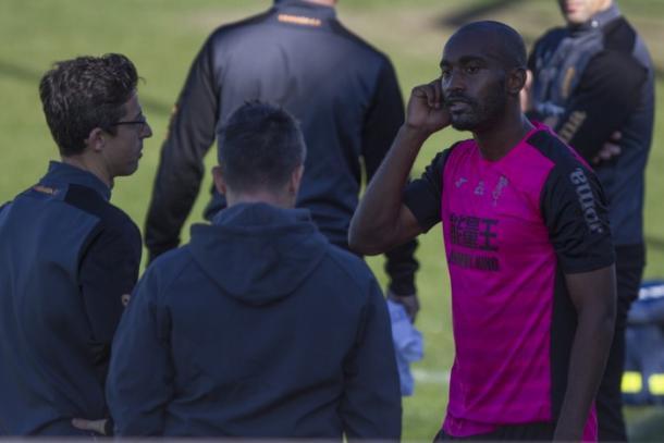 Foulquier será la gran ausencia del Granada CF (Foto: Antonio L. Juárez)