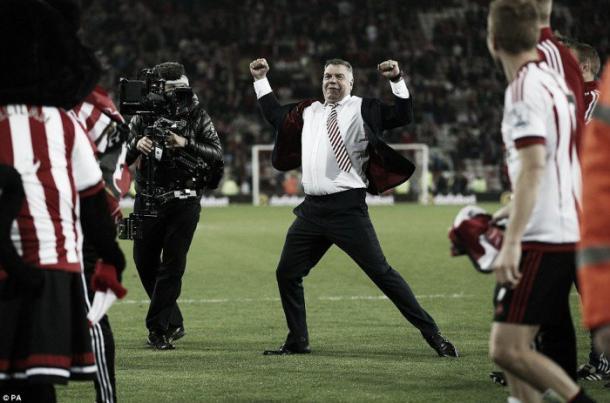 Allardyce celebrates as Sunderland secure survival. (Photo: PA)