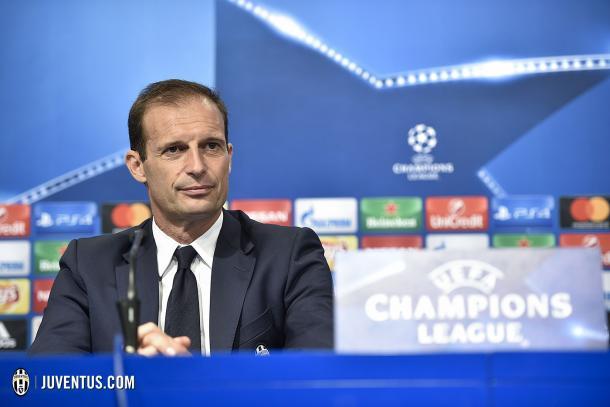 Allegri en rueda de prensa/ FOTOGRAFÍA: Juventus.com