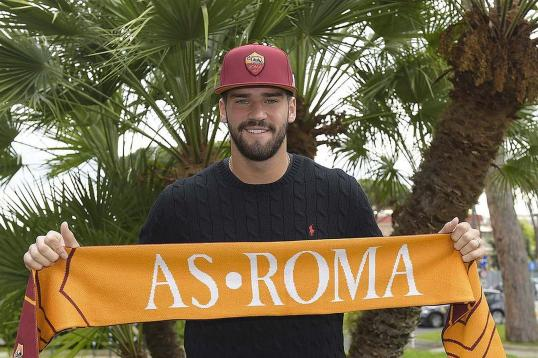 Allison featured regularly over pre-season (Photo: AS Roma)