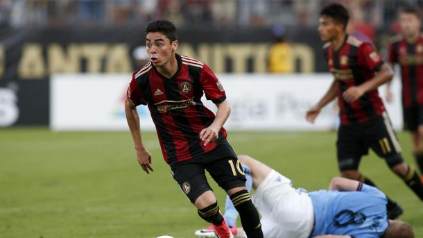 Miguel Almiron was superb during the 3-1 win over NYCFC. (Source: USA Today Sports)