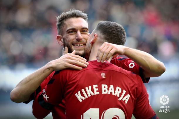 Roberto Torres y Kike Barja anotaron los goles. Foto: LaLiga 1|2|3