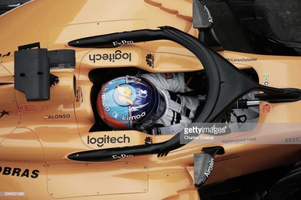 Alonso en los libres del GP de Rusia | Fuente: Getty Images