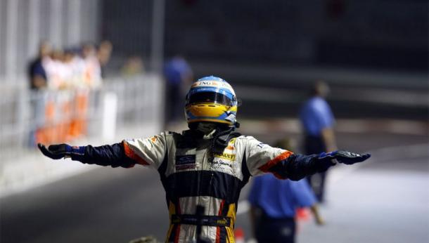 Alonso tras ganar en Singapur | Foto: Fórmula 1
