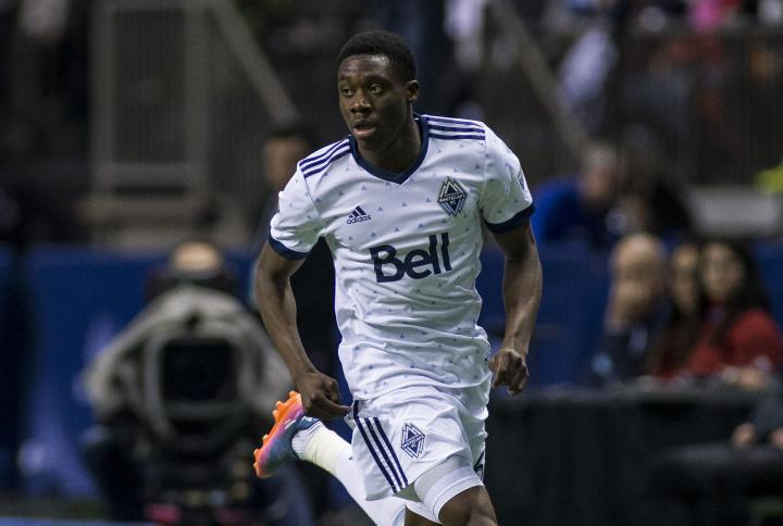 Alphonso Davies jugando con Vancouver Whitecaps FC (whitecapsfc.com)