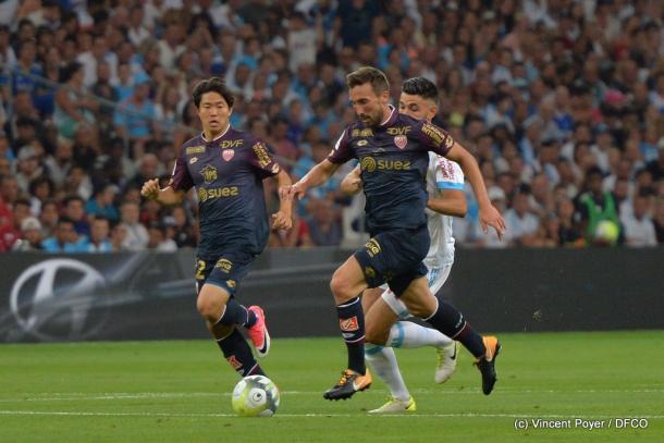 Romain Amalfitano fue uno de los jugadores más destacados del primer acto. | FOTO: @DFCO_Officiel