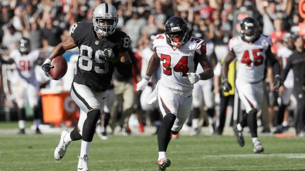 Amari Cooper con 376 recepciones en dos años es la estrella ofensiva de los Raiders