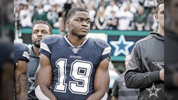 El WR Amari Cooper se lesionó frente a los Jets y su participación esta casi descartada (foto Cowboys.com)