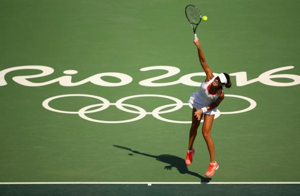 Ana Ivanovic sobre la central del Centro nacional de Tenis de Río de Janeiro en los JJOO de 2016 (Foto: zimbio)