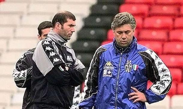 Zidane e Ancelotti ai tempi della Juve.