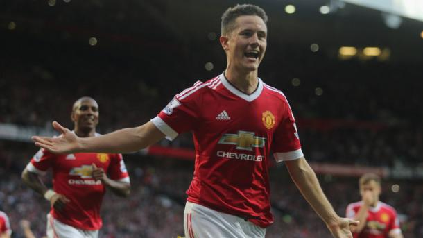 Above: Ander Herrera in action for Manchester United | Photo: Sky Sports
