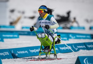 Aline Rocha competindo. Foto: André Cintra