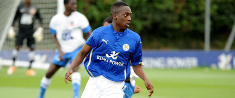 Andre Olukanmi is joined by six other Under-21s released by Leicester City. | Photo: Plumb Images.