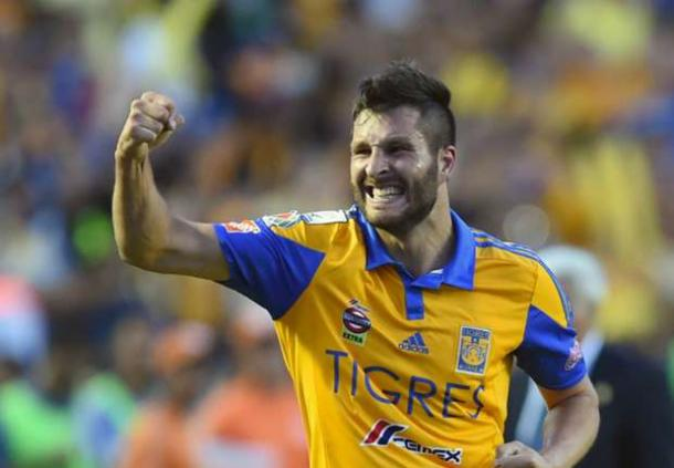 Tigres striker André-Pierre Gignac scored the tying goal against Real Salt Lake to eliminate them from the CCL. Photo provided by AFP.