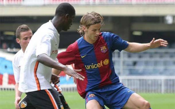 Orlandi, en un partido con el Barça B  |  Fotografía: Sport.es